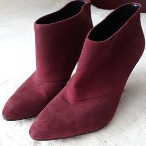 Zara Woman Burgundy Booties